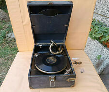 OLD ANTIQUE PRIMITIVE PHONOGRAPH GRAMOPHONE ZENITH CRANK WORKING! GIFT 2 RECORDS
