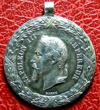 French Napoleon III Mexican expedition 1862-1863 rare silver medal by BARRE