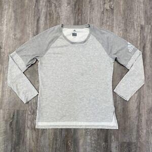 Men's ADIDAS Climalite Long Sleeve Performance Athletic Shirt Men's Large Gray