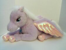 "Barbie Large 21"" Plush Brietta Magic of Pegasus Winged Purple & Pink Horse"
