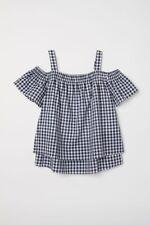 H&M nursing maternity gingham top black white M