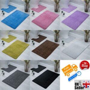 Bath Mat & Pedestal ( pack of 2 pcs ) / Non-Anti Slip / Greek Design / Soft / PR