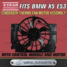 Condenser Thermo Fan for BMW E53 X5 00-06 5 Blades With Module & Brushless Motor