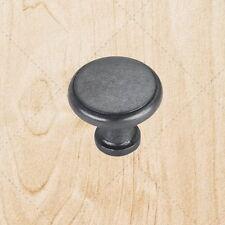 """Kitchen Cabinet Drawer Hardware Knobs kt970 Black Antique pulls 1-1/8"""" diam"""