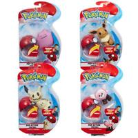 Pokemon Pop Action Poke Ball and Soft Toy Figure Collectables - Collect 'em All!