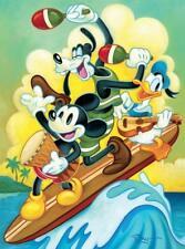 CEACO DISNEY FINE ART PUZZLE SURF TRIO TIM ROGERSON 1000 PCS GOOFY #3377-8