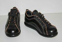 CAMPER Sneakers Lacets Femme Cuir Noir Doublés Cuir T 38 TBE