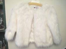 Gorgeous,chic faux fur jacket by J Lo.size L,antique white