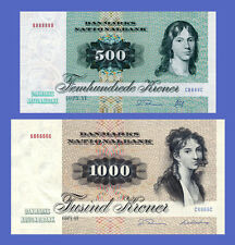DENMARK - Lots of 2 notes - 500...1000 Kroner - Reproductions