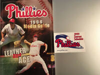 1999 PHILLIES MEDIA GUIDE And Pocket Schedule Both In VERY GOOD CONDITION