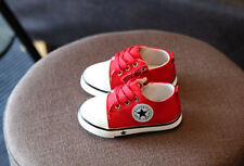Baby Boy Girl Shoes Breathable Comfortable No Slip Canvas SNEAKERS 1-3 Years Old Red 8