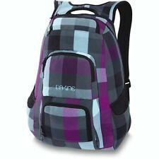 "Dakine JEWEL 26L Belle Grey Purple Blue Black Plaid 14"" Laptop Sleeve Backpack"