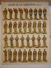 AFFICHE UNIFORMES ARMEE LIBERATION LEGION ETRANGERE MARINE LYON GUERRE 39-45 WW2