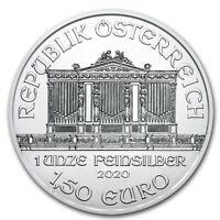 (LOT OF 100) 1 OUNCE SILVER AUSTRIA PHILHARMONIC COIN S .999 1oz. (Random Date)