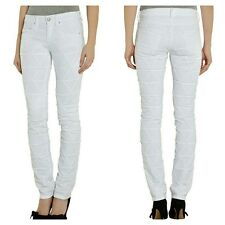 ISABEL MARANT White Steffi Origami Skinny Quilted Jean Size 34