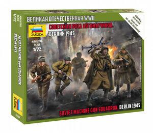Zvezda 1/72 Figures - Soviet Machine Gun Squadron Berlin 1945 - Z6269