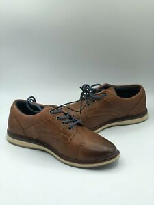 Arizona Barber Kid Boy's Brown Cognac Lace Up Closed Toe Oxford Shoes Size 13 M