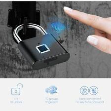 Keyless USB Rechargeable Door Lock Fingerprint Smart Padlock Quick Unlock Chip