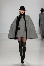 Loro Piana Zang Toi fall 2014 cashmere cape wrap hundstooth black white Italy