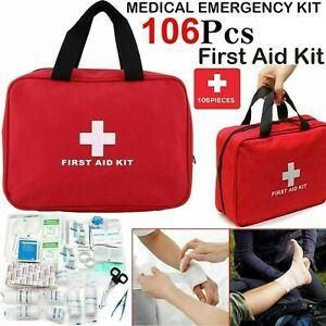 Pet First Aid Kit 106P For Dogs Cat Rabbits And Other Pets Safety Emergency Pack