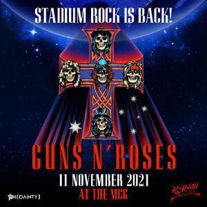 2 x Guns N Roses Concert Tickets COST PRICE MCG Melbourne 11th November 2021
