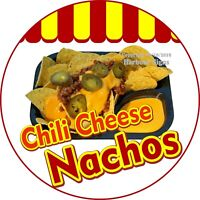 Chili Cheese Nachos DECAL (Choose Your Size) Concession Food Truck C Sticker