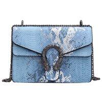Women Bag Alligator PU Leather Messenger Bag Designer Chain Shoulder Crossbody