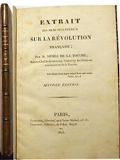 REVOLUTION FRANCAISE/MEHEE DE LA TOUCHE/EXTRAIT DES MEMOIRES/2NDE EDITION/1823/