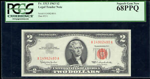 1963 $2 - United States Note - PCGS Currency Superb Gem New 68PPQ