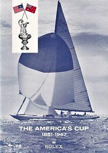 AMERICA'S CUP 1967 SOUVENIR PROGRAM & BI-FOLD RACE PROGRAM  Mint!