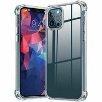 For iPhone 12/Pro/Max/Mini/11 Case Crystal Clear Slim Shockproof TPU Phone Cover