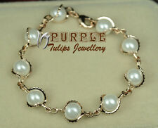 18CT 18K Rose Gold Plated Fashion Pearls Bracelets