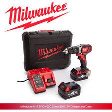 Milwaukee M18BPD-402C 18v Cordless Combi Hammer Drill & Driver Full Kit