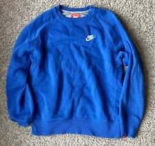 Nike Boys Kids Pullover Sweater Blue Size Large