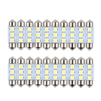 20x 36mm 3SMD 5050 Pure White Canbus Error Free Car LED Dome Light Lamp Bulb 12V