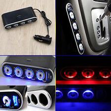 4 Way DC12V Multi Socket Car Cigarette Splitter Lighter Adapter USB Plug Charger