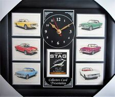 Triumph Stag 1970-77 Stunning Collector Cards Wall Clock