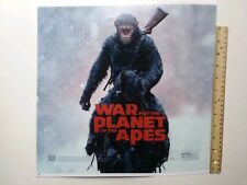 War For The Planet Of The Apes Double Sided Vinyl Poster from Red Box 14.5x14.5