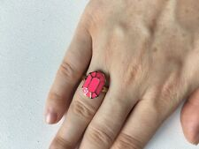 Kate Spade Emerland Cut Shaped Ring in Pink with Gold Band SIZE 7