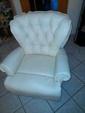 Sessel, Kunstleder, weiß,  elektrisch verstellbar und Masagefunktion