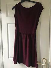 Dorothy Perkins pretty Skater dress size 8 Burgundy