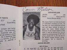 1972 Oakland University Men's Basketball Guide(12 Sign/GENE BOLDON/CARVIN MELSON