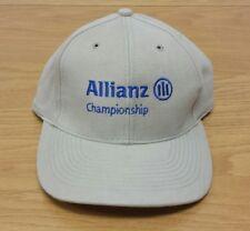 ALLIANZ CHAMPIONSHIP Golf Beige Khaki Adjustable Strap Strapback HAT / CAP