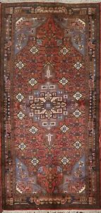 VINTAGE Geometric Traditional Oriental Runner Rug Wool Hand-knotted 3x7 Hallway