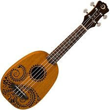 Luna UKE TATTOO Hawaiian Soprano Pineapple Mahogany Ukulele & Gig Bag