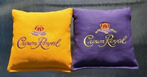 8 Quality Embroidered Cornhole Bags! Crown Royal!  WICKED NICE! Pellets or Corn!