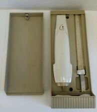 Vintage SEARS Electric Carving Knife 2 Blades Works with Wall Mount Case