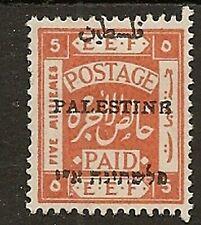 PALESTINE 1920 PALESTINB VARIETY P14 5m SG29d