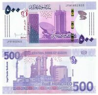 SUDAN (North) 500 Pounds UNC Banknote (March 2019) P-NEW Prefix JF Paper Money