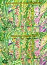 Malaysia 1999 Heliconia Flower Plant Fauna Leaf (stamp sheet) MNH